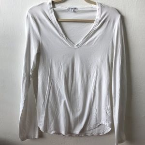 James Perse V-Neck Long Sleeve Tee